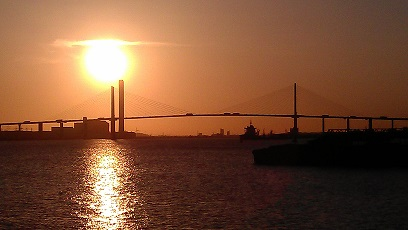 Dartford Crossing at sunset. small