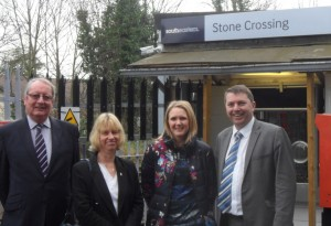 GJ at Stone Crossing with Cllrs