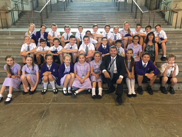 Our Lady of Hartley catholic primary school visit to parliament