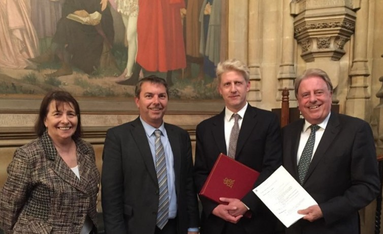GJ with Jo Johnson after crossrail debate