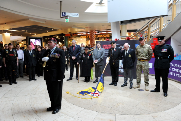 Armistice Day at Bluewater (Photo Courtesy of Kent Messenger) – 11th November 2013