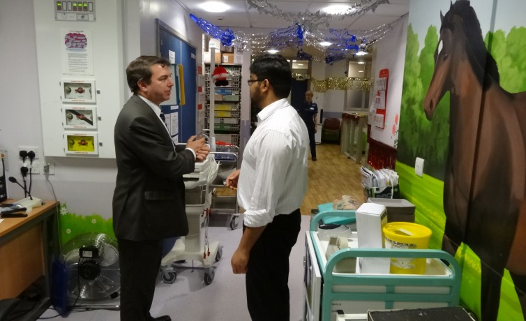 Visit to Darent Valley Hospital – 13th December 2013