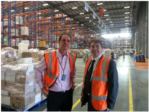 Gareth at Sainsbury's Distribution Centre – 22nd July 2013