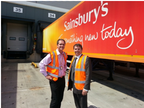 Gareth visits Sainsburys Distribution Centre – 22nd July 2013