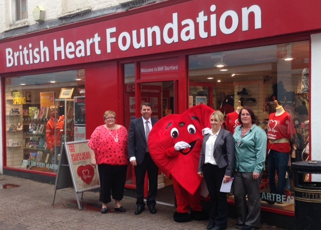 Visiting the British Heart Foundation store in Dartford Town Centre – 11th July 2014