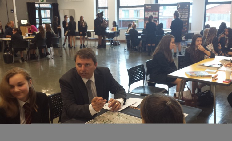 Gareth at Dartford Science and Technology College Careers Fair – 11th July 2014
