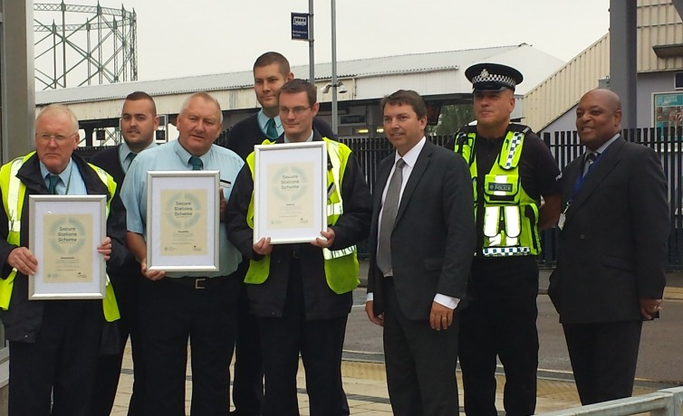 Presenting the Safer Station Awards at Dartford Station – 11th July 2014
