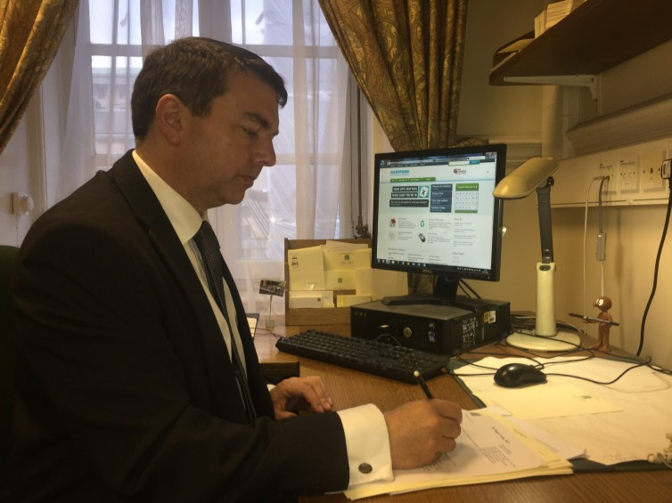 GJ AT WORK IN WESTMINSTER