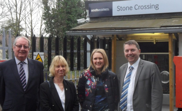 At Stone Crossing with local councillors – November 2015