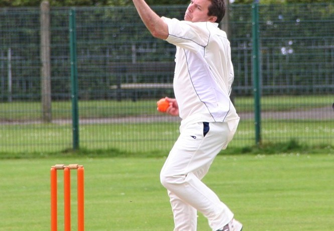 Cricket 2016 action shot of GJ