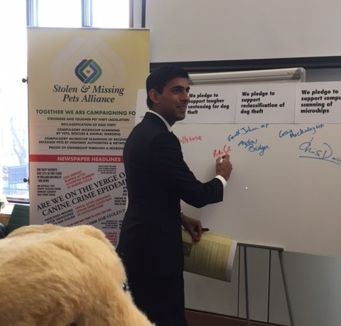 Dog Theft Awarness Day - Rishi Sunak MP
