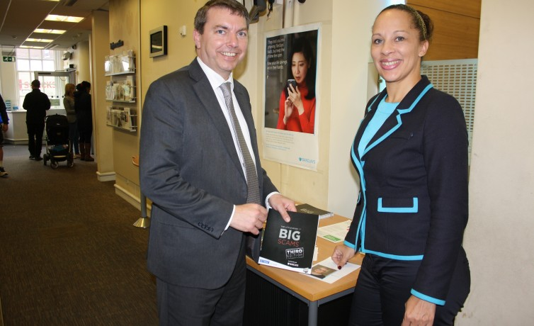 GJ with Barclays Bank Manager, Dartford