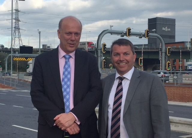 GJ with Chris Grayling for LTC announcement